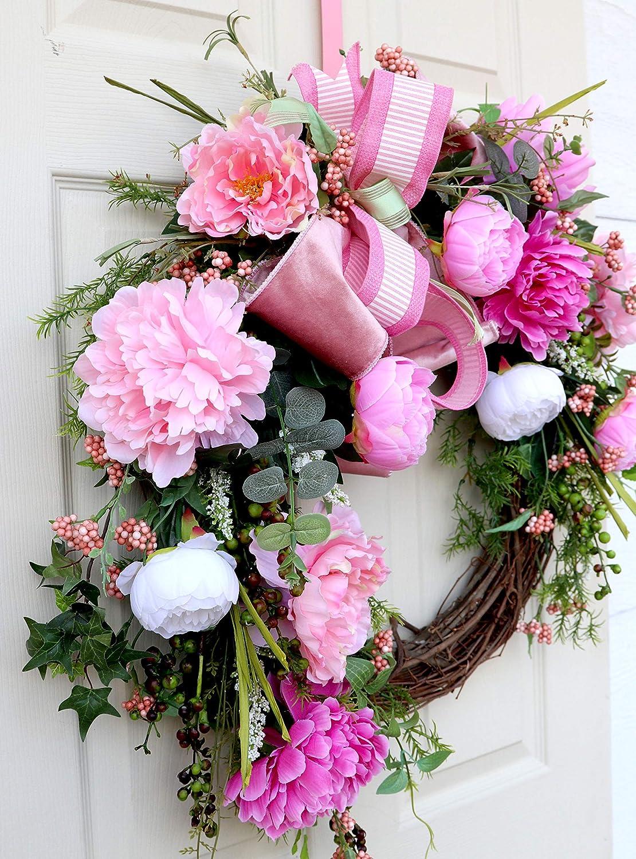 Front Door Wreath Everyday wreath Summer wreath Summer Wreath Spring Wreath for front door wreath,Peony Wreath Mothers Day Wreath, Porch Wreath