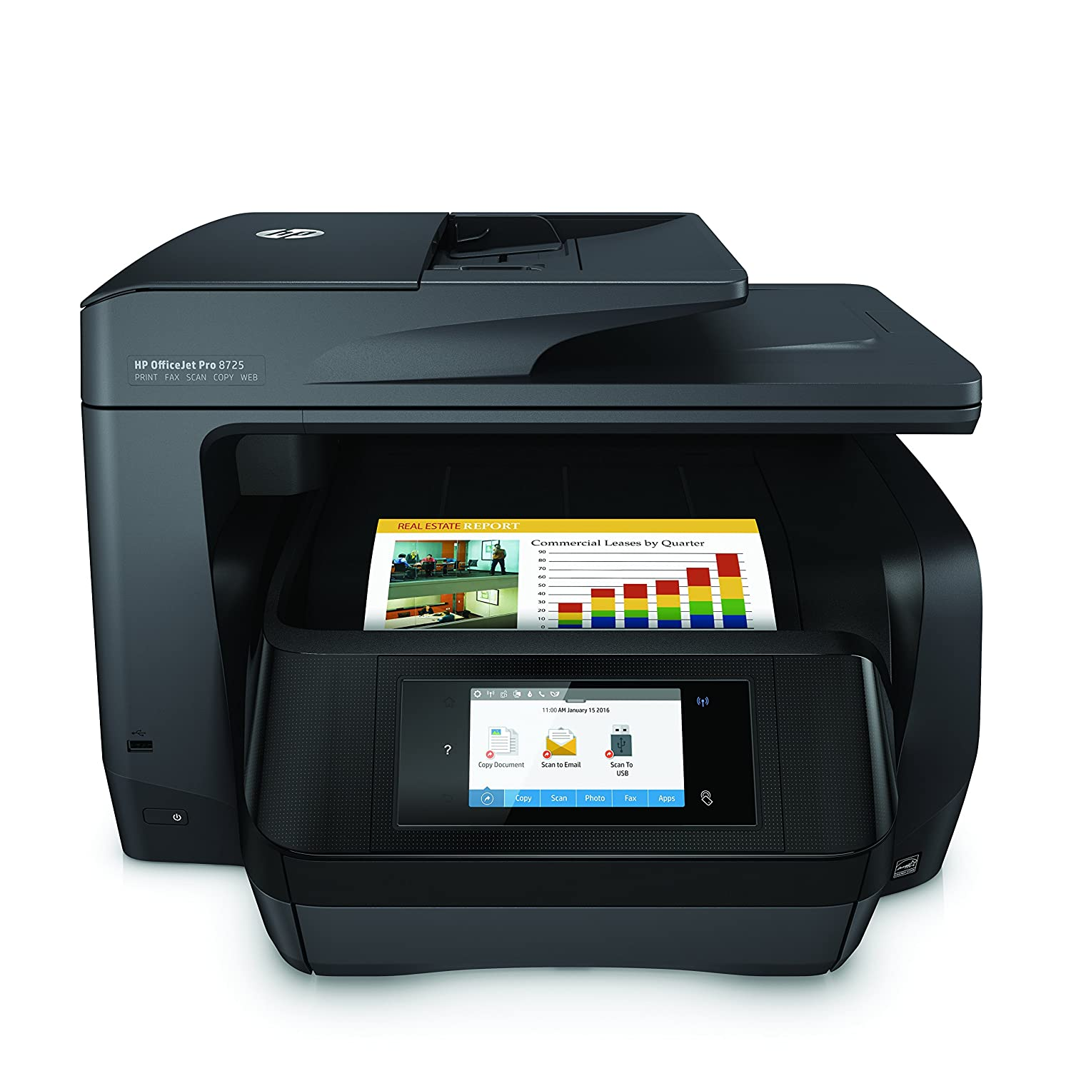 Instant Ink Ready Printer, setup + XL oem inks HP OfficeJet Pro 8725 All-in-One Printer