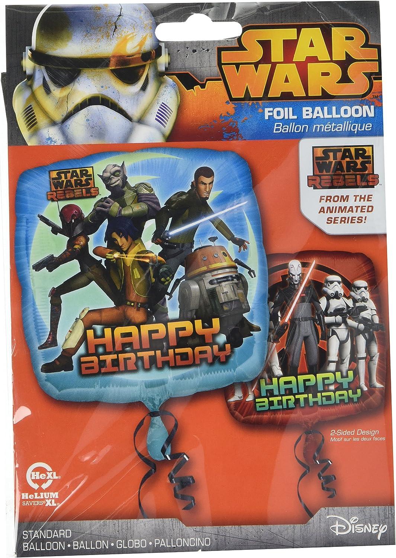 Anagram 29949 Star Wars Rebels Happy Birthday Foil Balloon 18 Multicolored