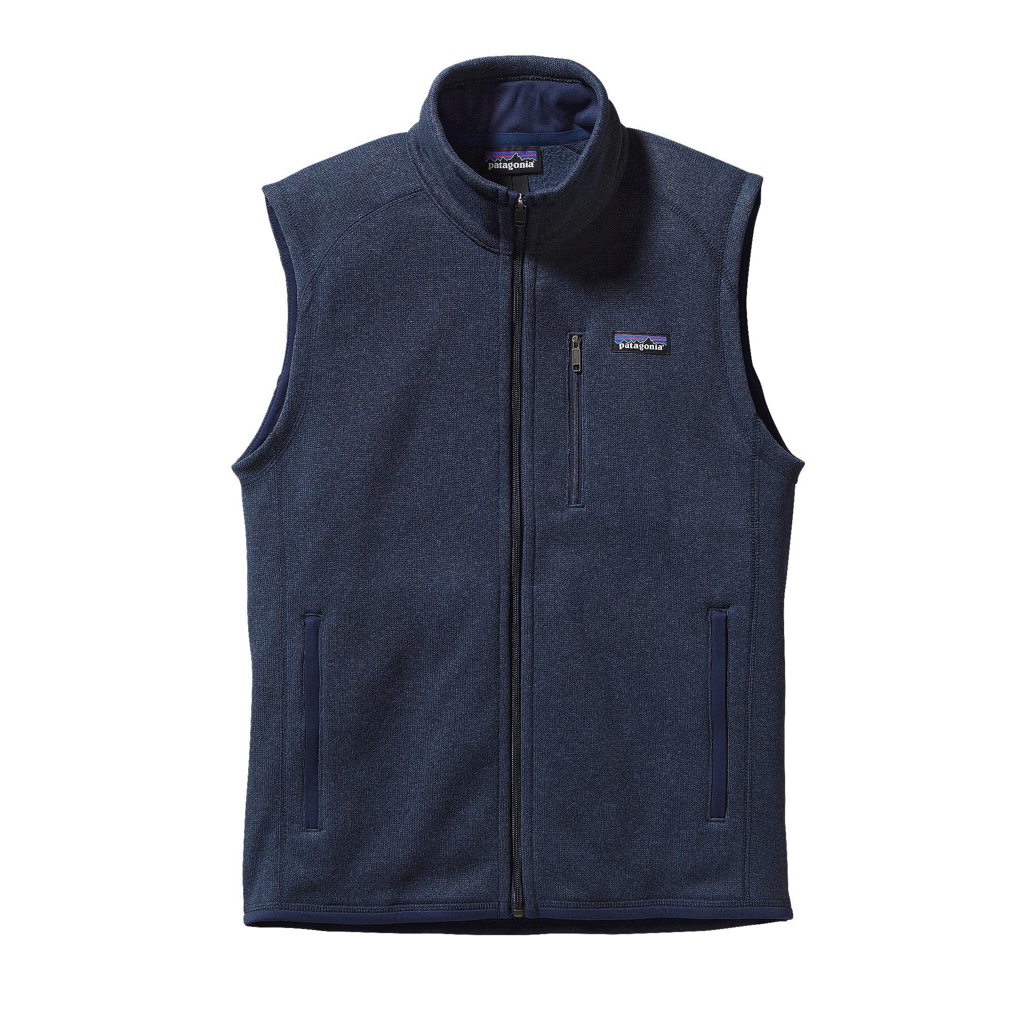 Patagonia Mens Better Sweater Vest, Classic Navy, XS