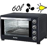 Robby - oven 60l - Four multifonction chaleur tournante 60l 2200w noir