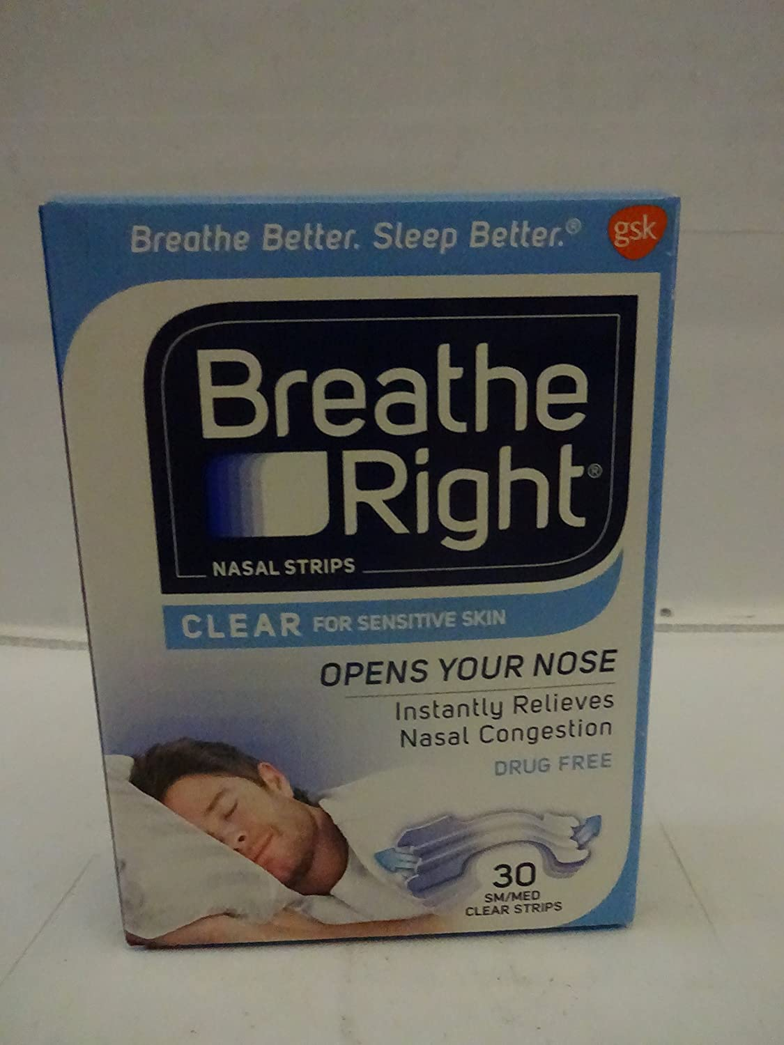 Breathe Right Clear Strips Small Medium, 30 CT (Pack of 4)