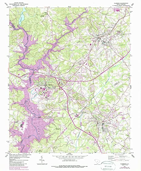 Amazon Com Yellowmaps Clemson Sc Topo Map 1 24000 Scale 7 5 X