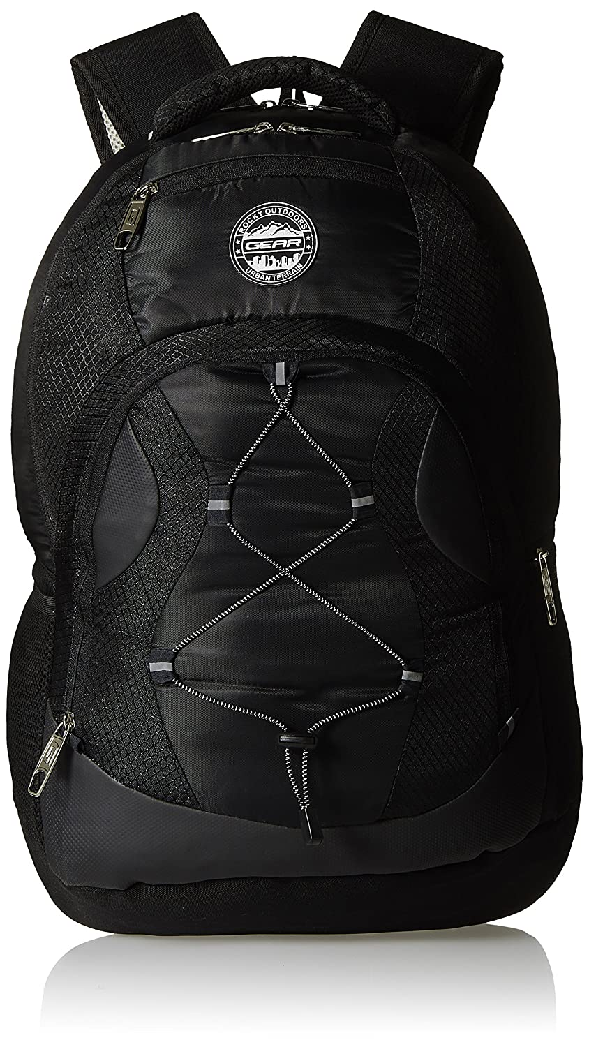 Gear 32 ltrs Black and Silver Laptop Backpack (LBP00UBT50137)