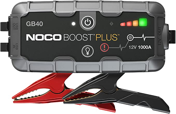 Amazon.com: NOCO Boost Plus GB40 1000 Amp 12-Volt Ultra Safe Portable Lithium Car Battery Jump Starter Pack For Up To 6-Liter Gasoline And 3-Liter Diesel Engines: Automotive