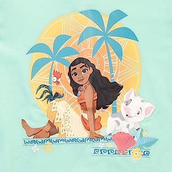 Disney Pijamas de Manga Larga para niñas Moana Ajuste Ceñido Vaiana