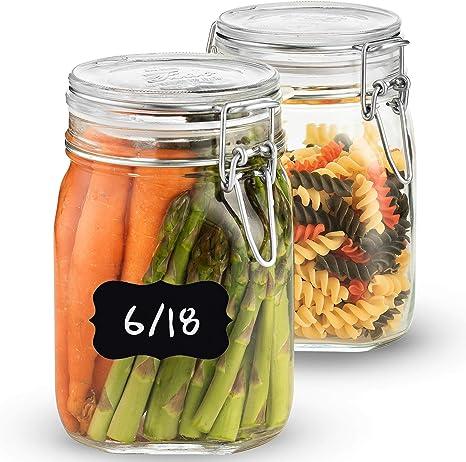 Bote de cristal cocina SILBERTHAL Tarro de almacenamiento herm/ético 1L Tarro legumbres de cristal
