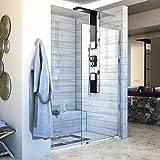 """DreamLine Linea 30 in. Width, Frameless Shower Door, 3/8"""" Glass, Chrome Finish"""