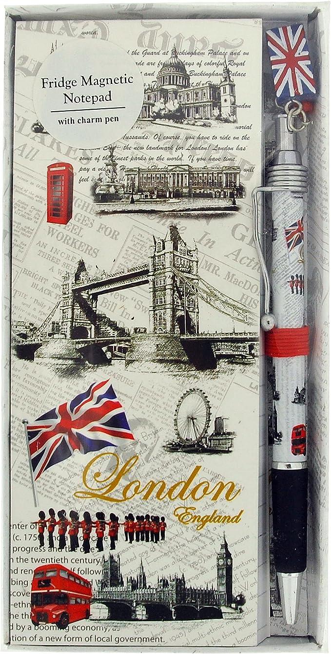 FRIDGE MAGNETIC NOTEPAD WITH PEN LONDON SOUVENIR GIFT