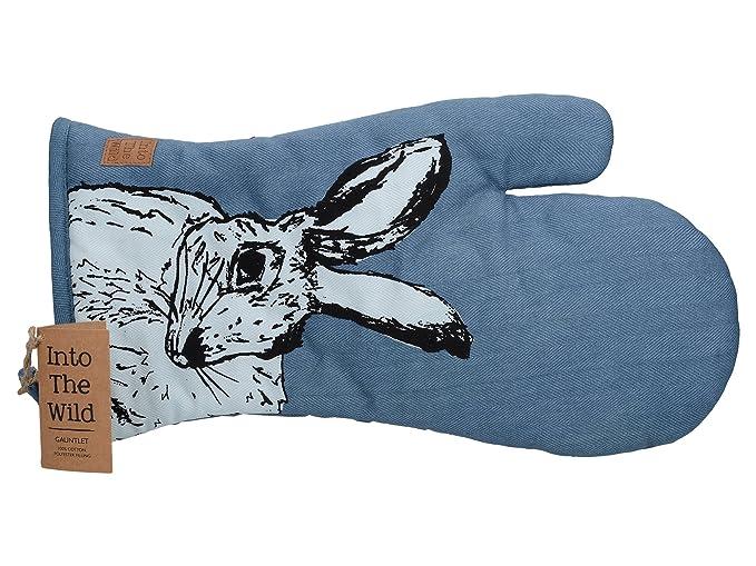Blau 42 x 38 x 1cm Baumwolle Kreative Tops In Den Wildhasen Handschuh
