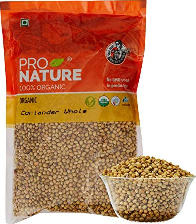 Pro Nature 100% Organic Coriander Whole, 200g