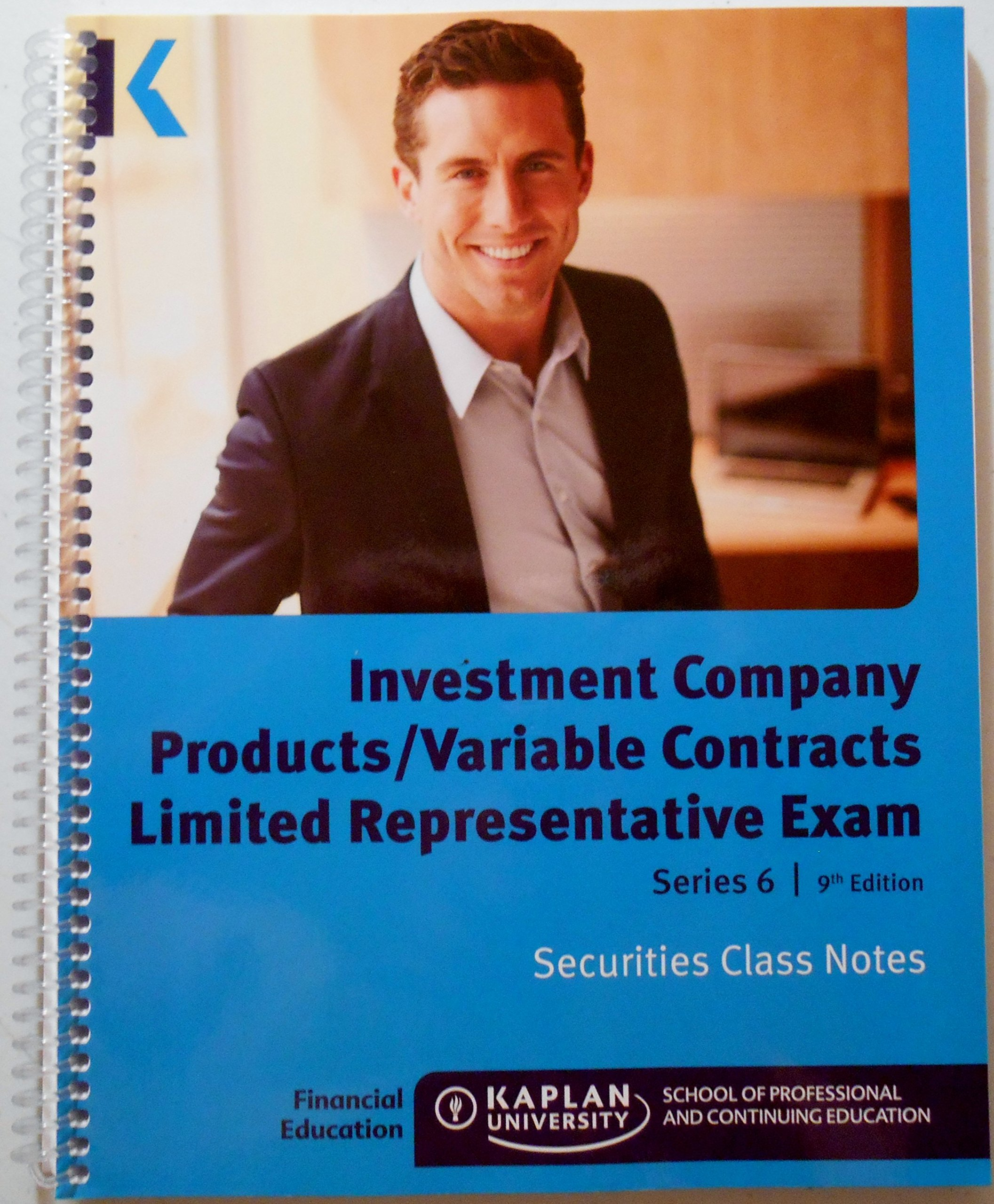 Investment Company Products/Variable Contracts Limited Representative Exam Series 6 9th Edition Securities Class Notes PDF