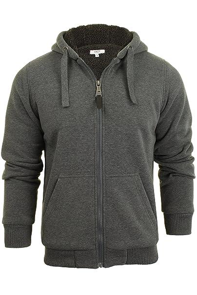 43f695e7f5213 Xact Mens Hoodie Heavy Sherpa Lined Jacket Zone  Amazon.co.uk  Clothing