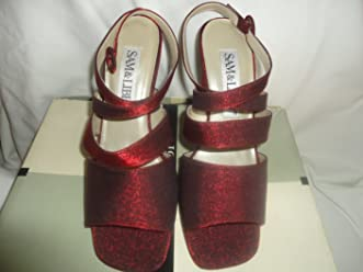 Sam Libby Shoes S&L Esther 0572-8029 Red Fabric size 7M