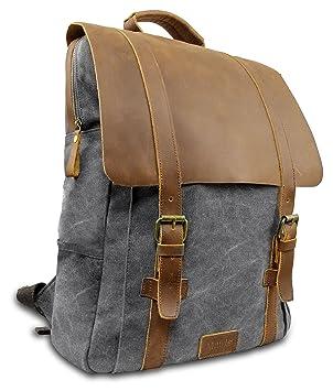 3c0cf57f50aa0 Laptop Rucksack Retro 15 quot  - Echt Leder Vintage Rucksack für die Uni