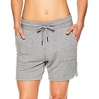 Gaiam Women's Warrior Yoga Short - Bike & Running Activewear Shorts w/Pockets - Flint Grey Heather, X-Large