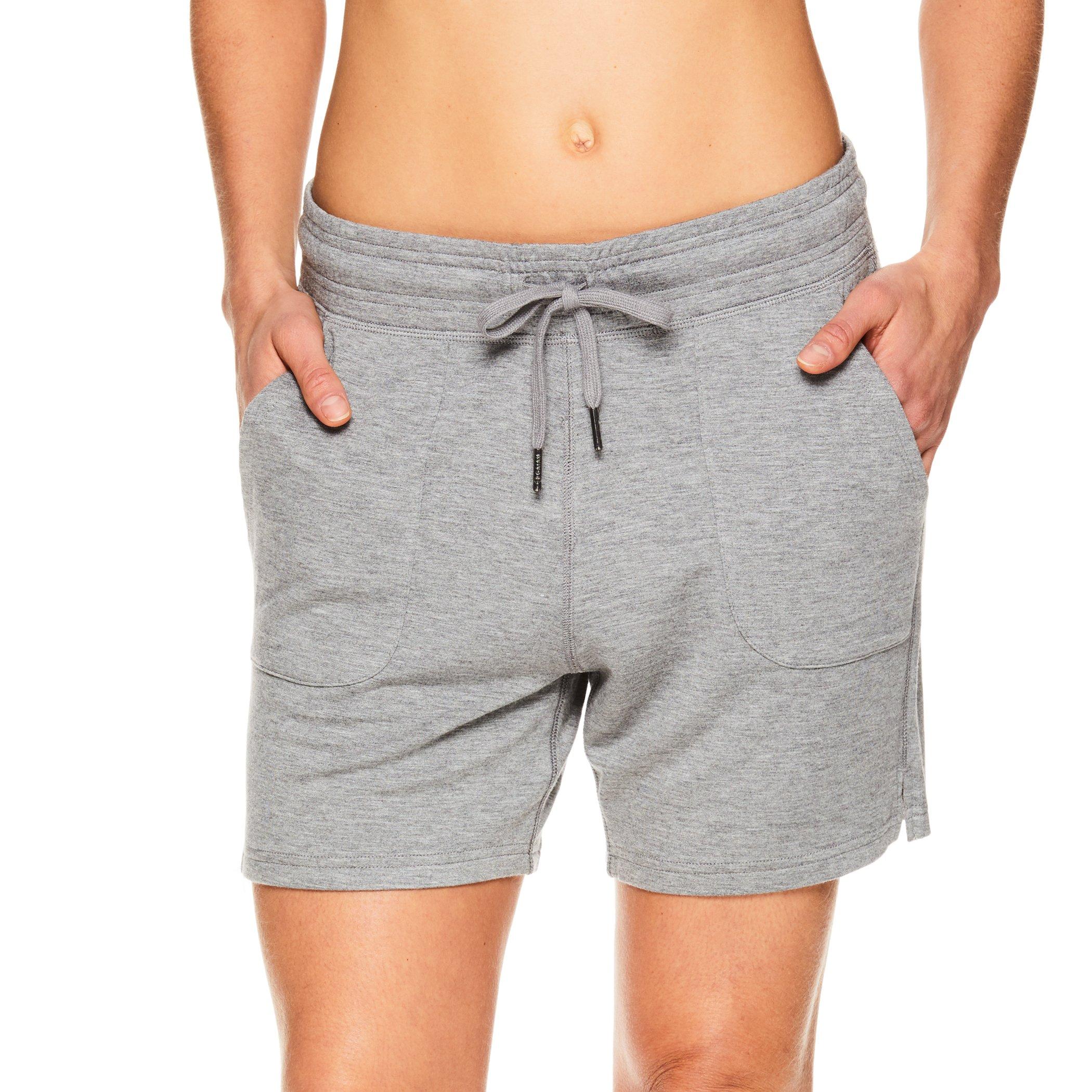 Gaiam Women's Warrior Yoga Short - Bike & Running Activewear Shorts w/Pockets - Flint Grey Heather, X-Small by Gaiam