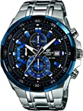 Edifice EFR-539D-1A2VUEF Men's Quartz Watch with Black Dial Analogue Display and Silver Stainless Steel Bracelet
