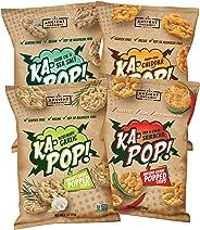 Ka-Pop! Popped Chips, Variety Pack (1oz, Pack of 12) - Allergen Friendly, Ancient Grains, Gluten-Free, Paleo, Non-GMO, Vegan