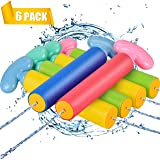 AstarX Water Gun, Squirt Gun 6 Pcs Water Blaster with Long Range up to 32ft Summer Pool Toys for Kid&Adult