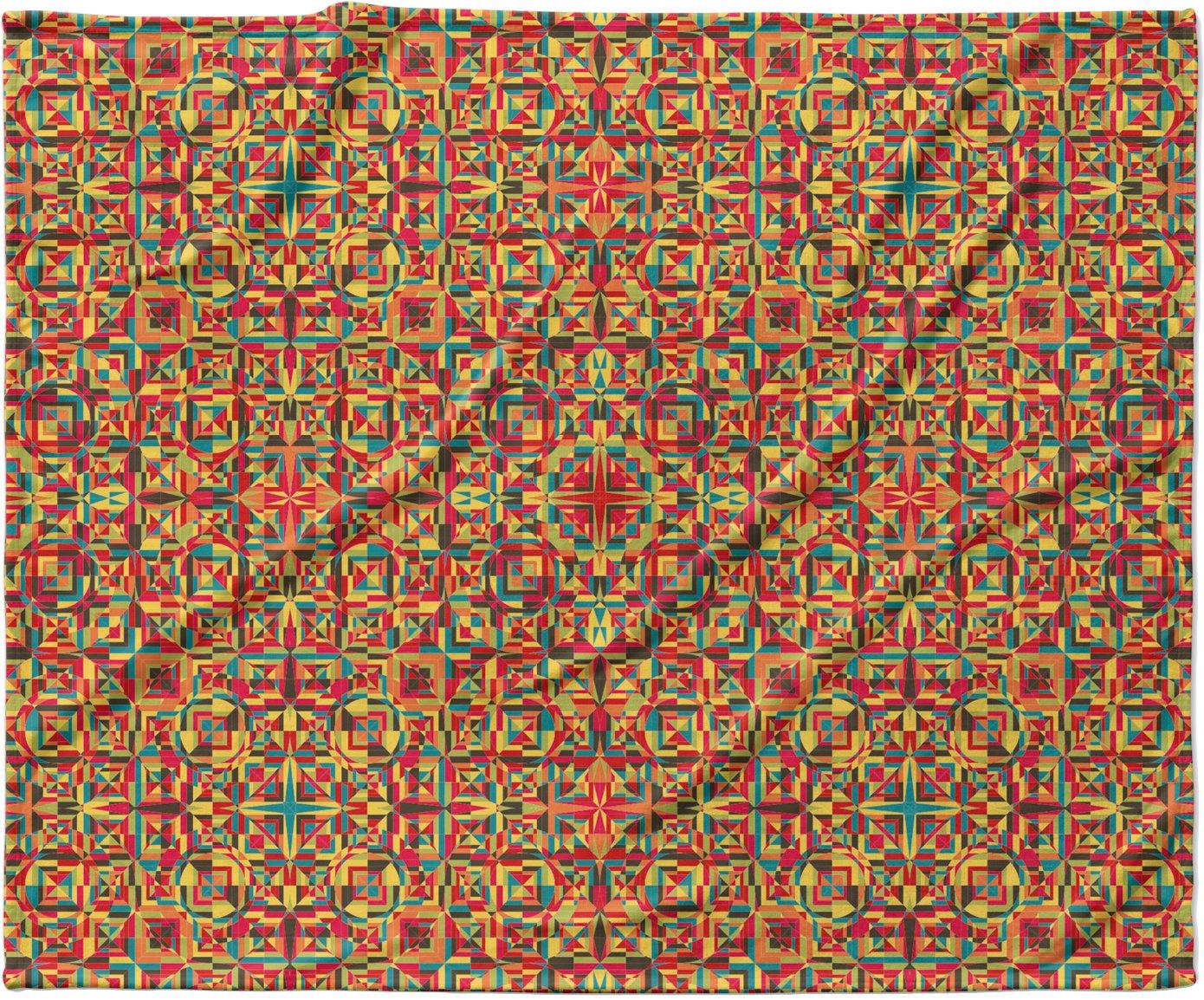 KESS InHouse Allison Soupcoff 'Circus' Orange Fleece Baby Blanket, 40' x 30'