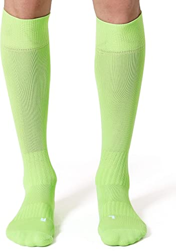 CelerSport 2 Pack / 3 Pack Soccer Socks for Youth Kids Adult Over-The-Calf Socks with Cushion
