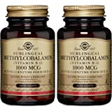 Solgar Methylcobalamin (Vitamin B12) 1000 mcg Nuggets, 60 Count 2 Pack