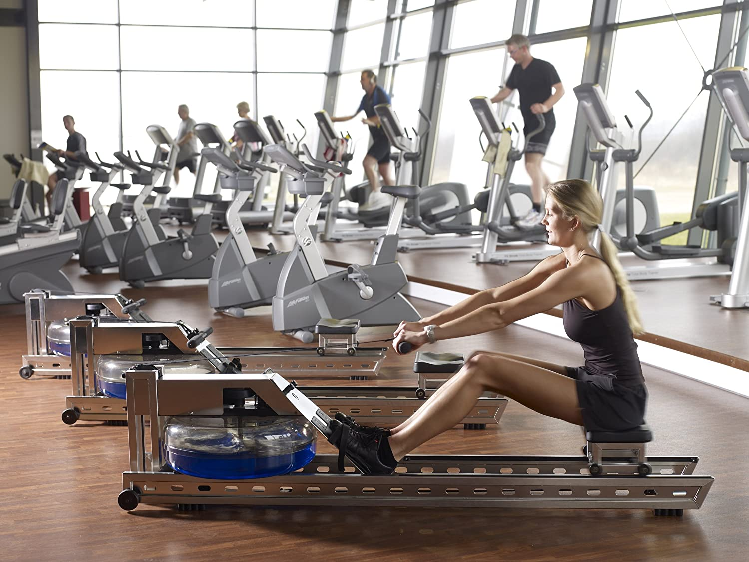 WaterRower S1 Rowing Machine in Brushed Stainless Steel with S4 Monitor