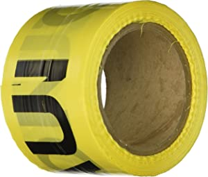 IRWIN Tools STRAIT-LINE 66200 Barrier Tape Roll, CAUTION, 3-inch by 300-foot (66200)