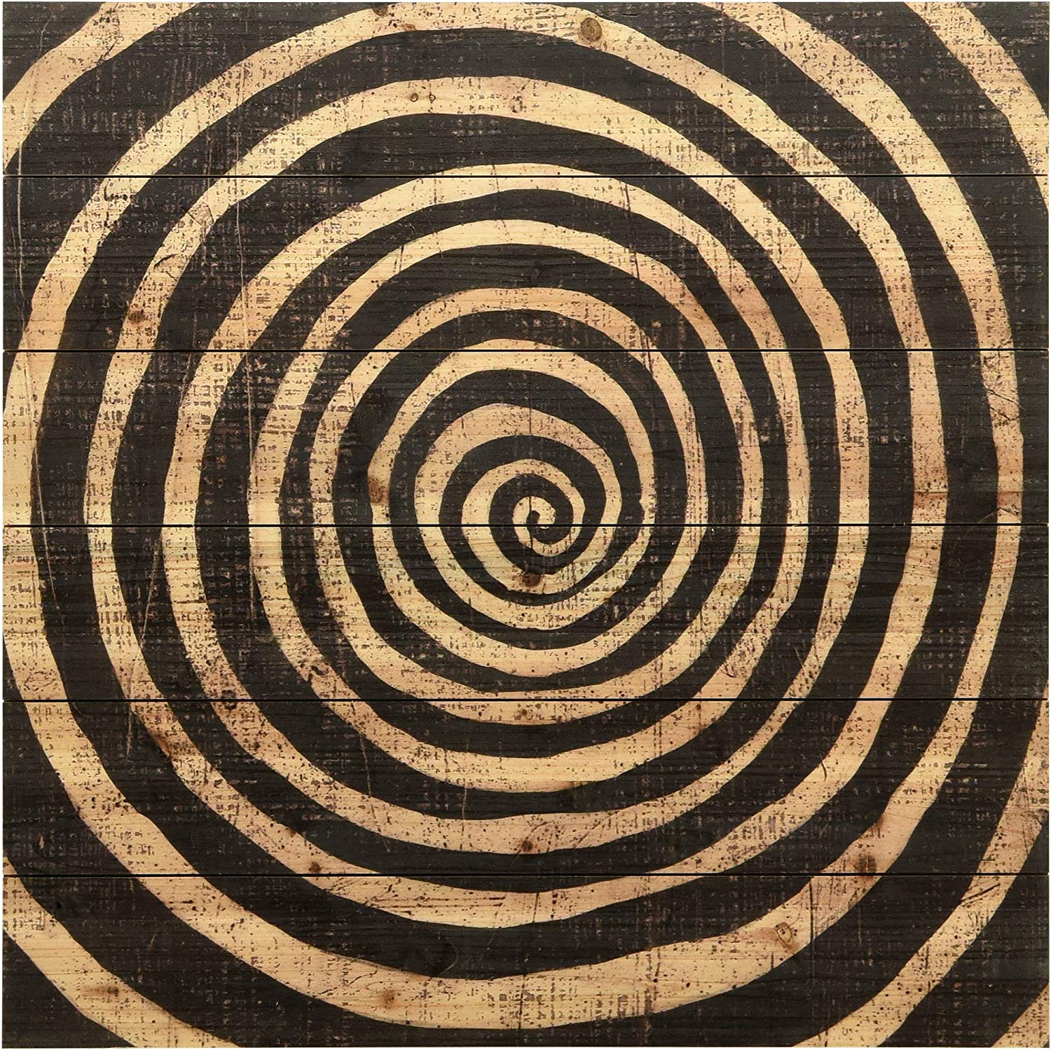 Empire Art Direct Abstract Arte de Legno Digital Print on Solid Wood Wall Décor, 24 in. x 1.5 in. x 24 in, Black, Wooden