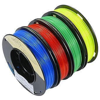 PLA 1.75mm 4x250g transparente azul/rojo/amarillo/verde ...