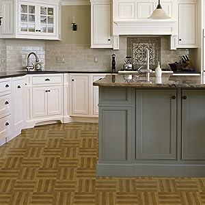 Achim Home Furnishings STT1M22345 Medium Oak Plank Sterling x 12 Self Adhesive Vinyl Floor Tile-45 Tiles/45 sq. Ft