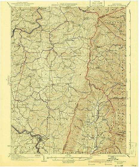 Topographic Map West Virginia.Amazon Com Yellowmaps Belington Wv Topo Map 1 62500 Scale 15 X