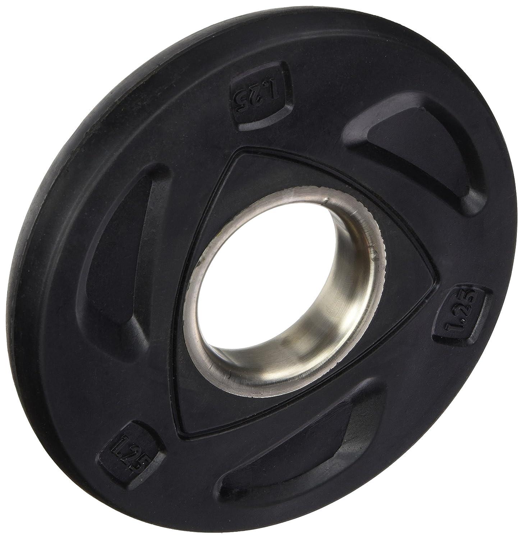 colore Nero AFW 105087 Disco di Gomma con Presa 1.25 kg diametro 50 cm