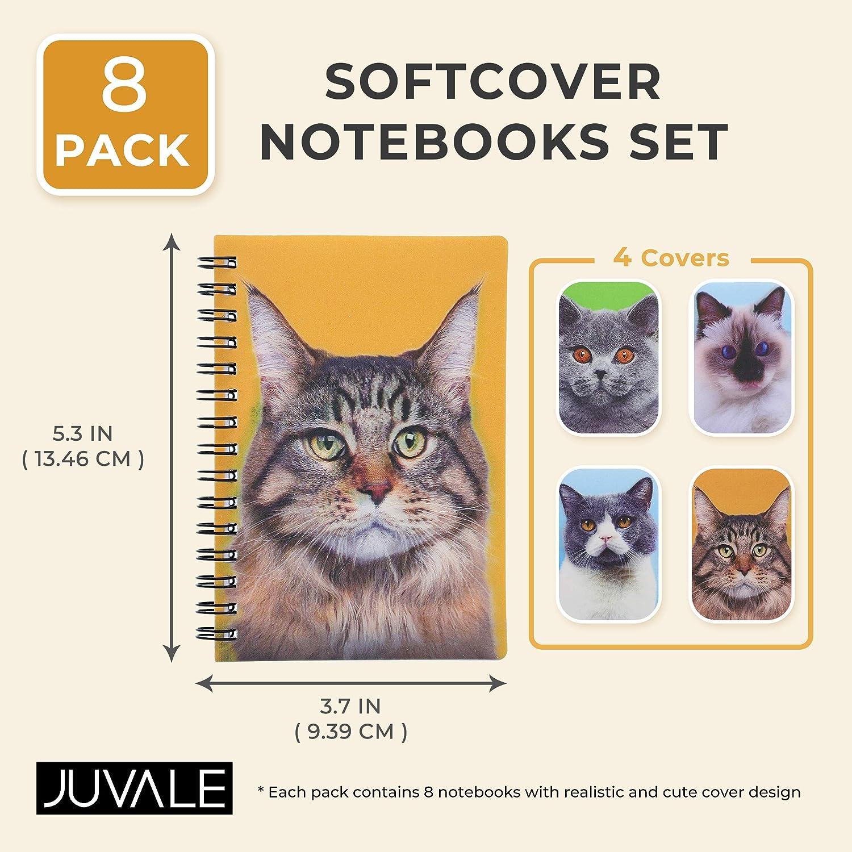 Paquete de 8 cuadernos de gato tama/ño 3.7 x 5.3 pulgadas