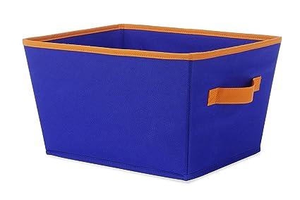 Whitmor 6256-1501-BLUORNG Small Tote Blue//Orange