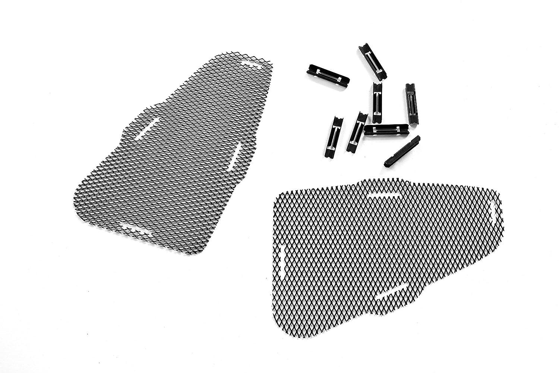 Diffusor aus verst/ärktem PP Kunststoff M-Paket Heckdiffusor Singel oder Duplex Auspuff Lackierbarer Untergrund Duplex 2 Rohr