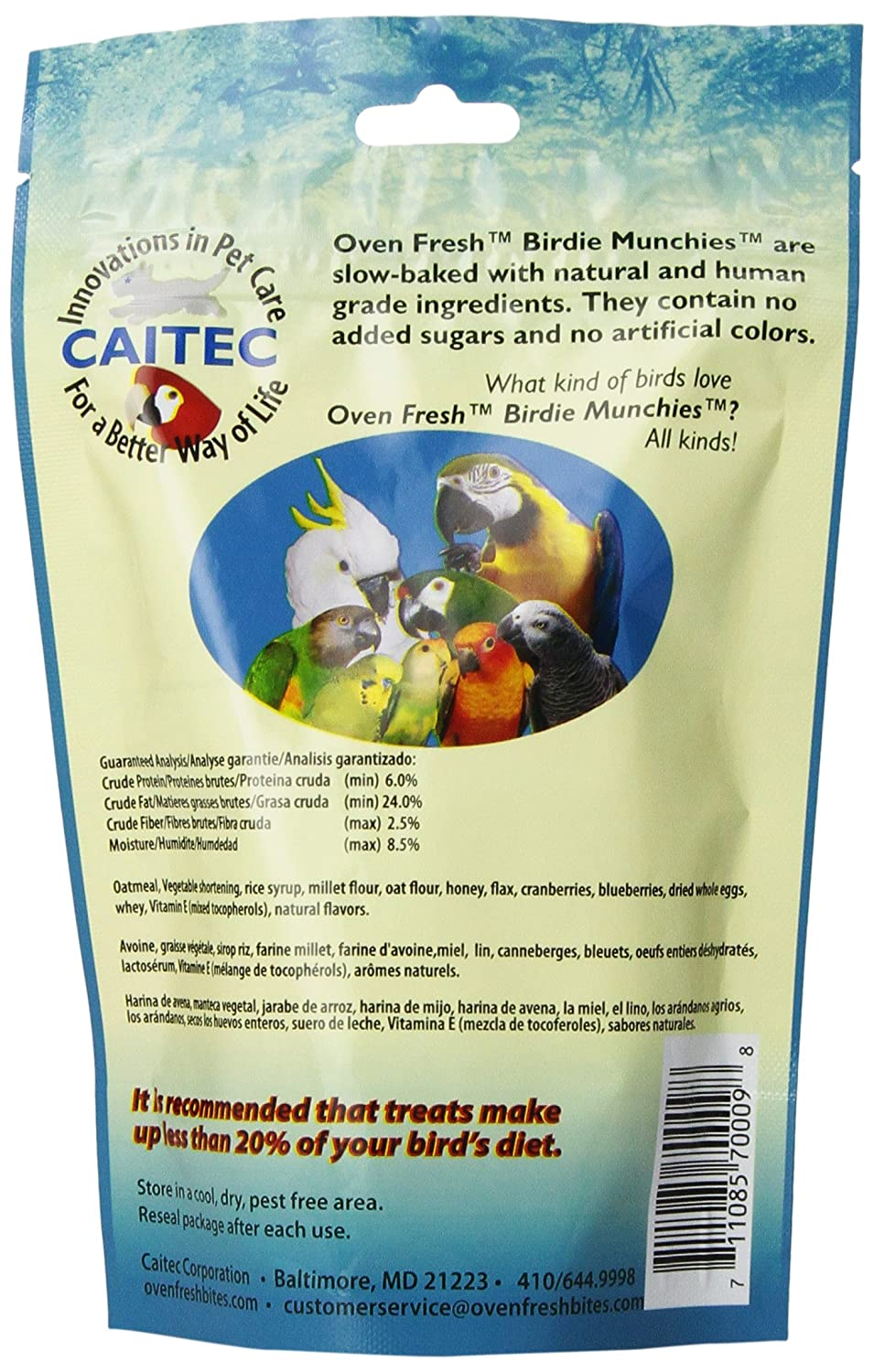 Amazon.com : Oven Fresh Bites Birdie Munchies Pet Treat, Cran-Blueberry, 4-Ounce : Pet Snack Treats : Pet Supplies