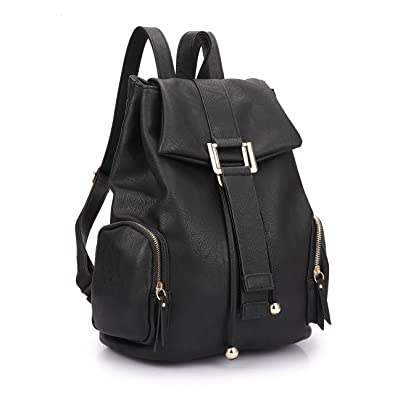 Amazon.com | Dasein Faux Leather Convertible Drawstring Fashion ...