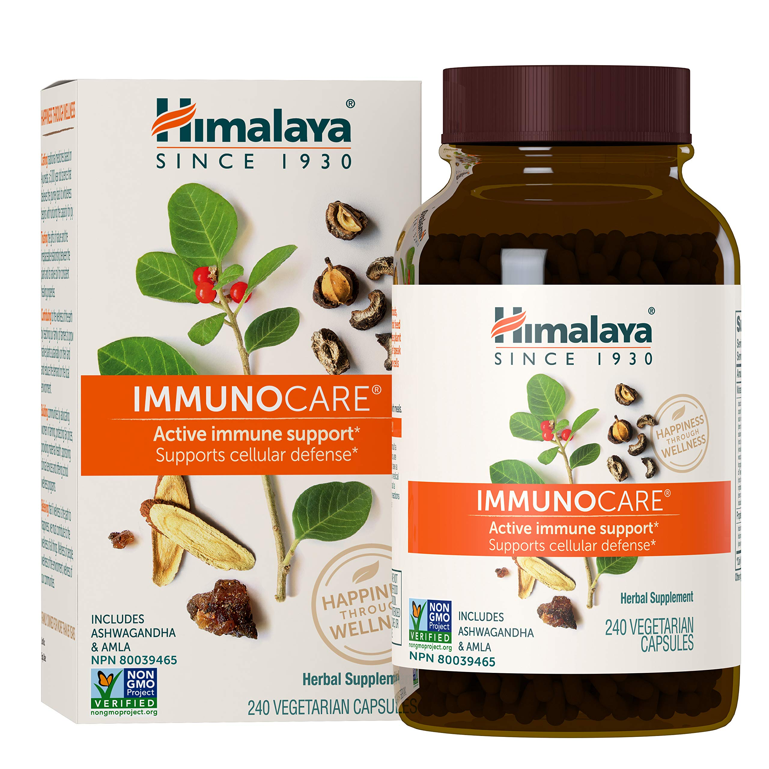 Himalaya ImmunoCare for Active Immune Support and Cellular Defense, 840 mg, 240 Capsules, 2 Month Supply
