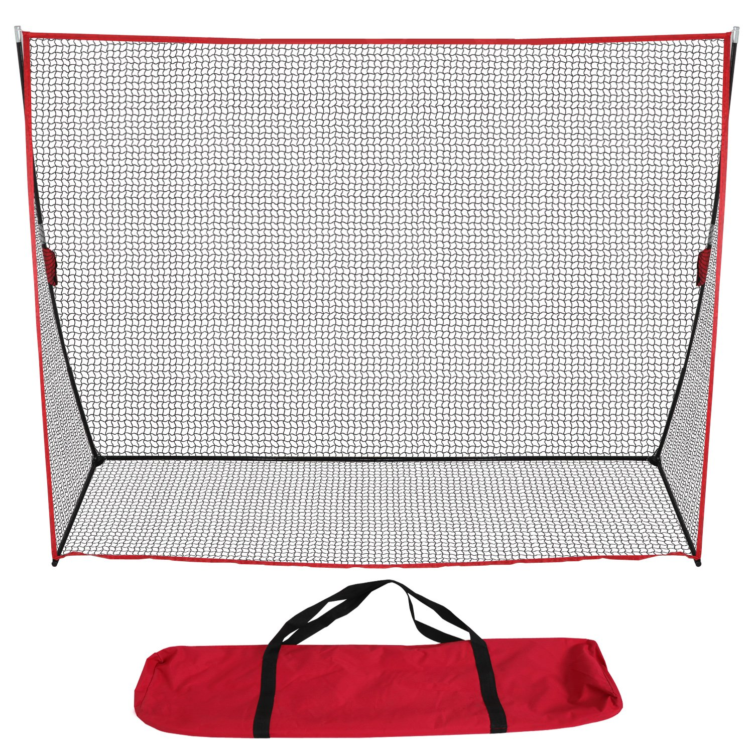 LEMY 10' x 7' Portable Golf Net Hitting Practice Driving Net Golf Bundle Home Swing Training Aids w/ Carry Bag For Indoor Outdoor