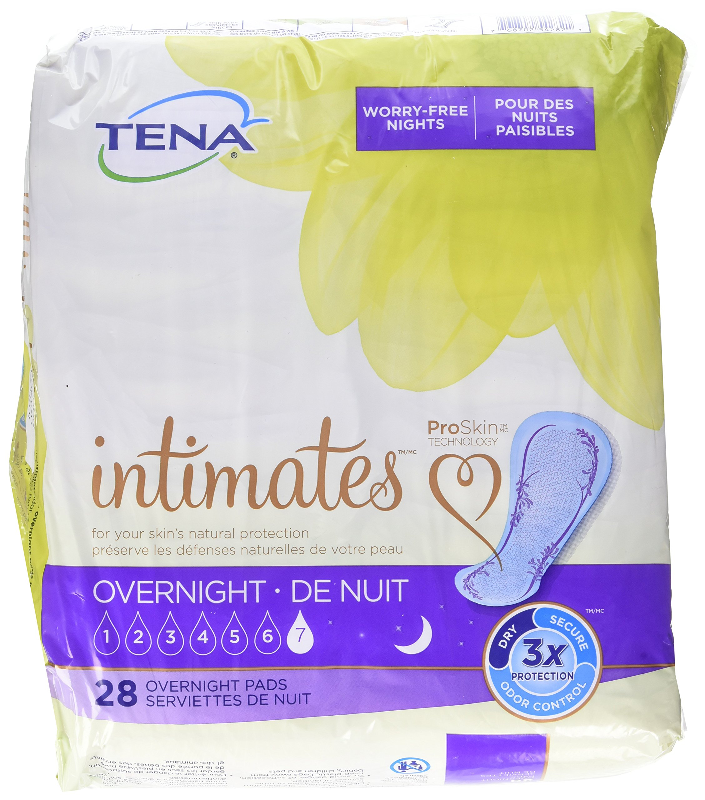 TENA Serenity Overnight Ultimate Pads, 28 Count