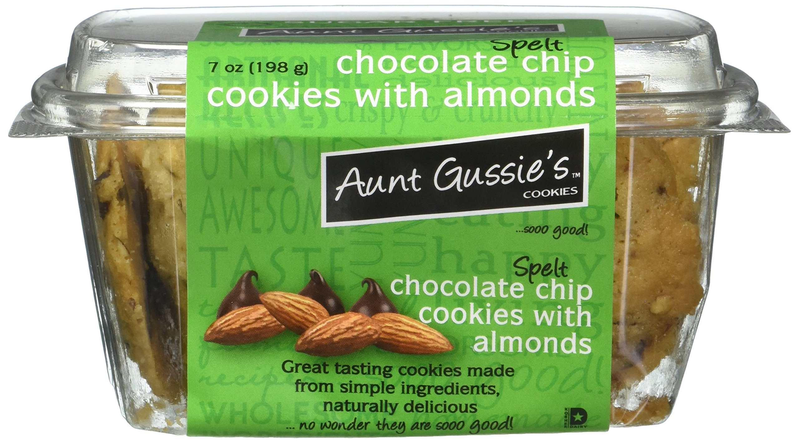 Aunt Gussies Chocolate Chip Spelt Cookies, 7 Ounce - 8 per case.