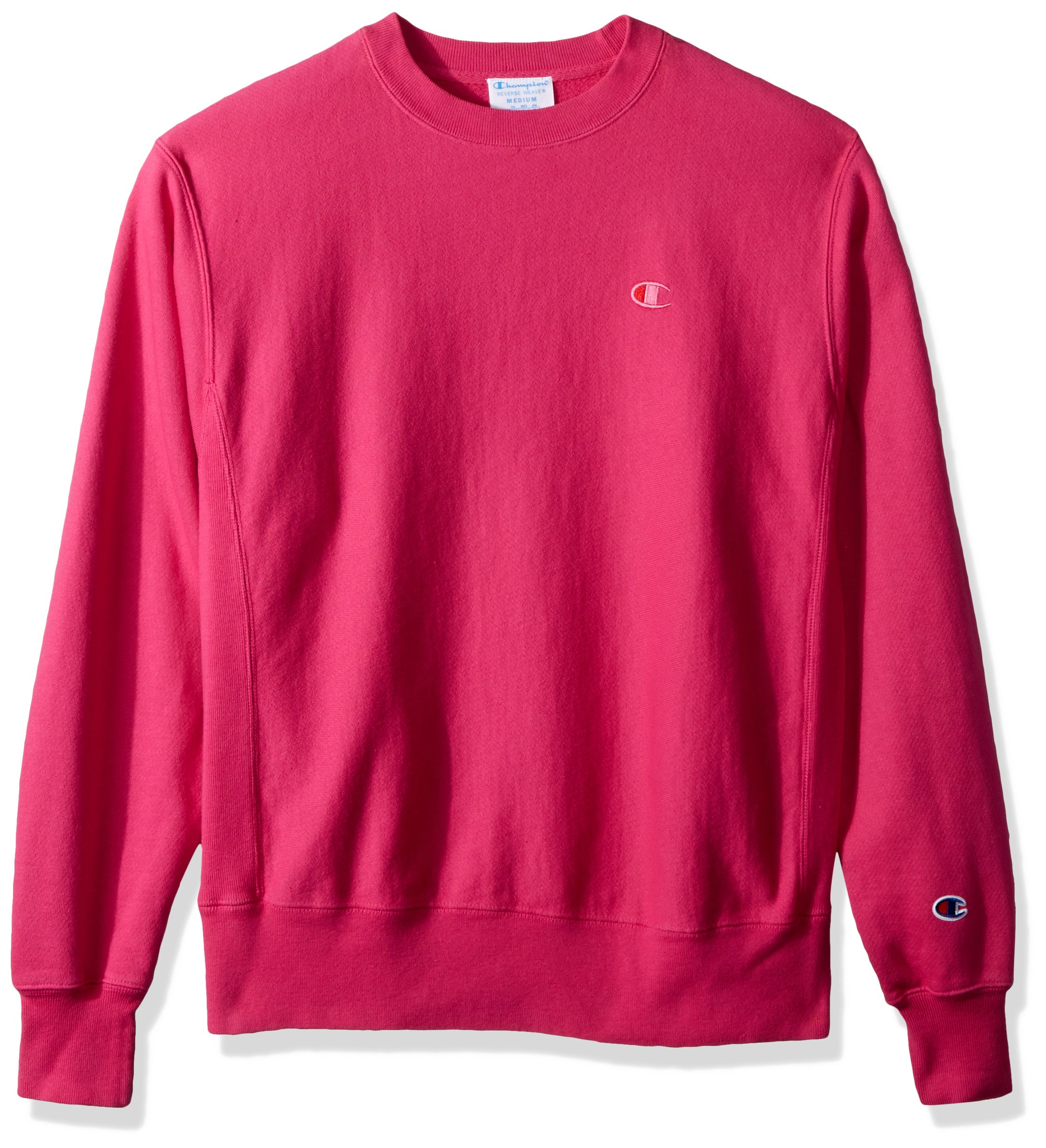 Champion LIFE Men's Reverse Weave Sweatshirt, Amaranth Pigment Dyed, S