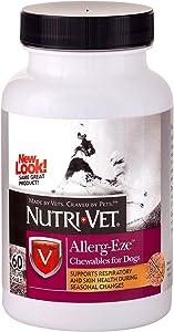 Nutri-Vet Allerg-Eze Supplement for Dogs| Formulated with Antioxidants & Omega-3 Acids|60 Chewable Tablets