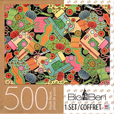 Sewing Collage 500 Piece Puzzle: Toys & Games