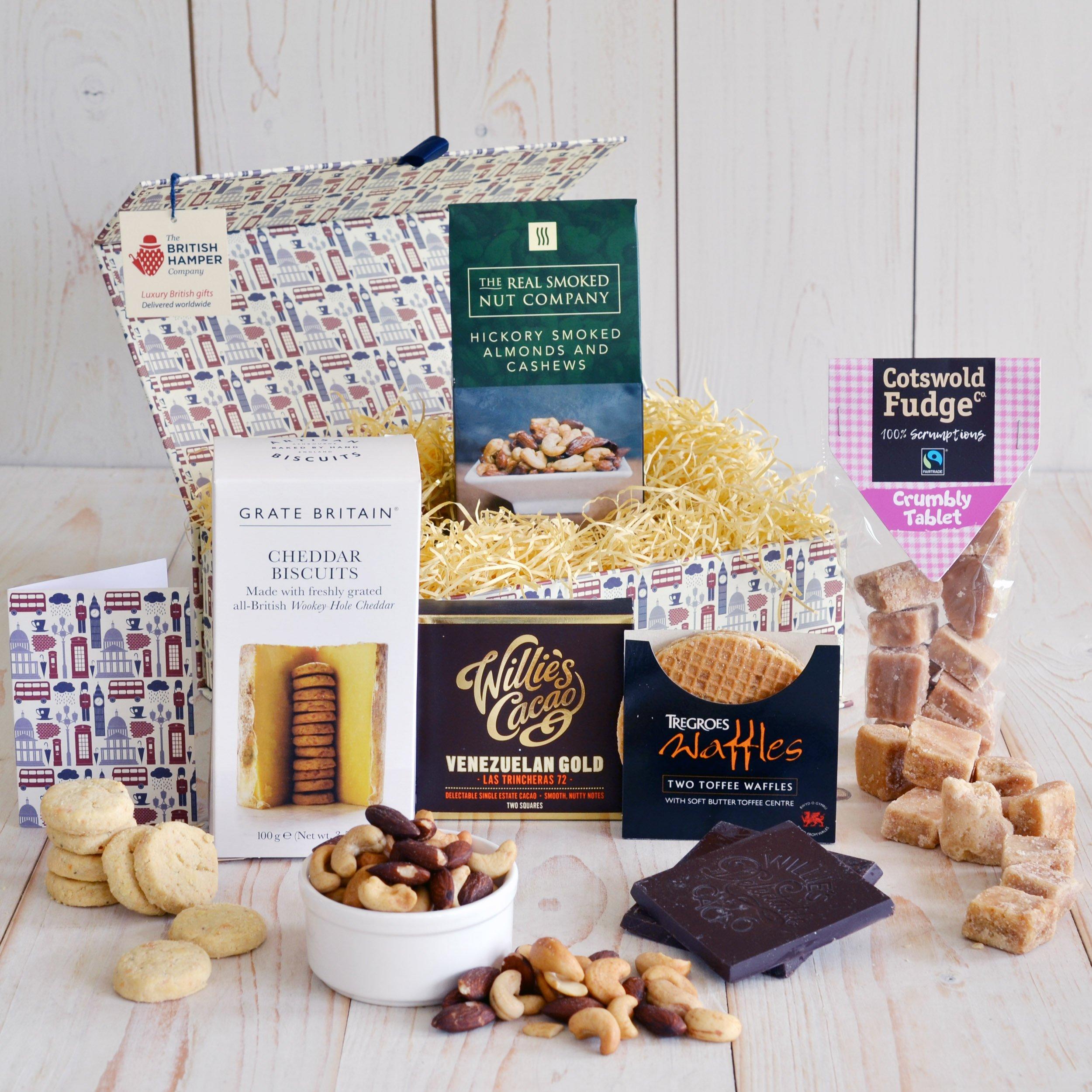 British Treats Gift Box - Free Gift Card - Artisan Food Gift Basket