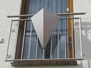 Edelstahl Design-Pflanzgefäß Deltico Balkonkasten Blumenkasten