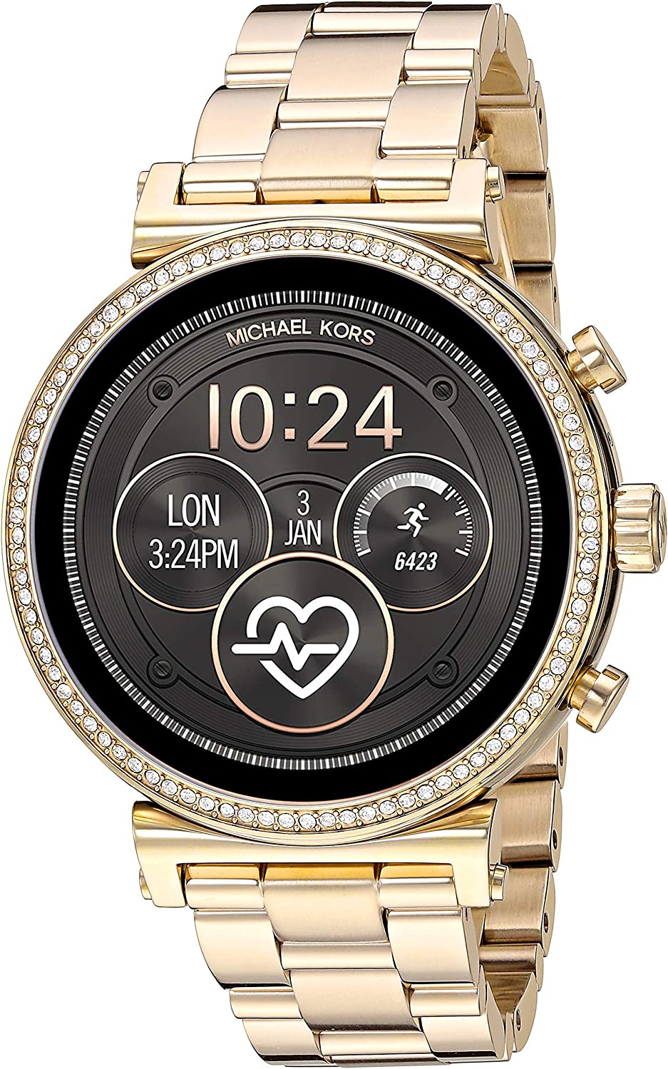 Michael Kors Access Sofie Heart Rate Smartwatch Powered with Wear OS by Google with Heart Rate, GPS, NFC, and Smartphone Notifications