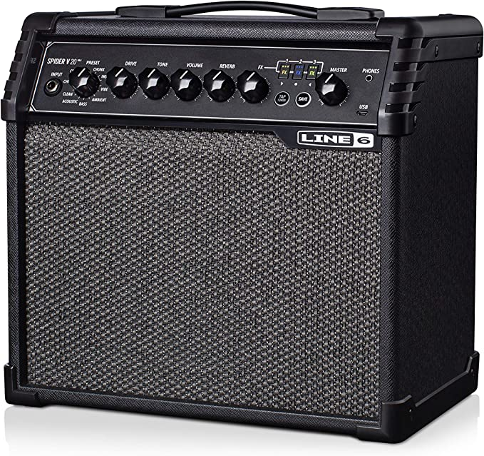 Line 6 Spider V 20 MkII - Amplificador digital de guitarra, de 20 ...